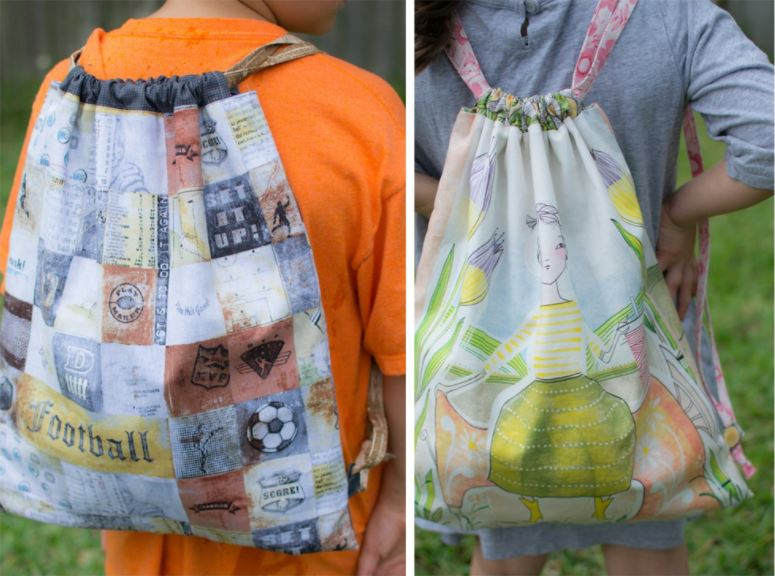 How to Sew a Drawstring Backpack