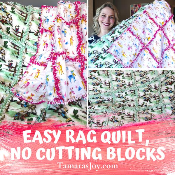 EASY RAG QUILT PATTERN – NO CUTTING BLOCKS