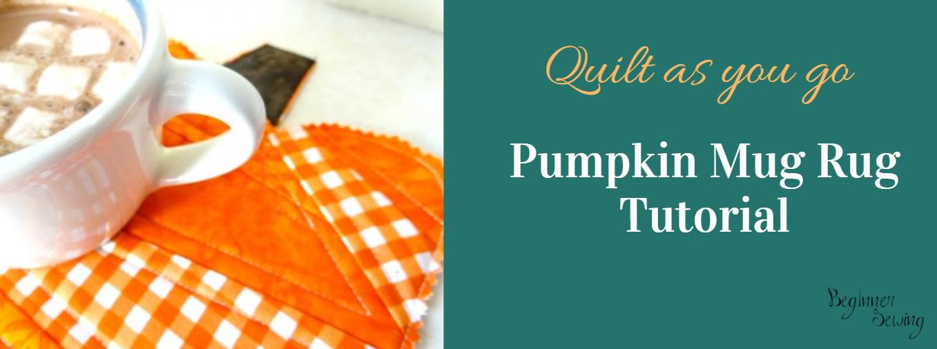 How to Sew a Pumpkin Mug Rug