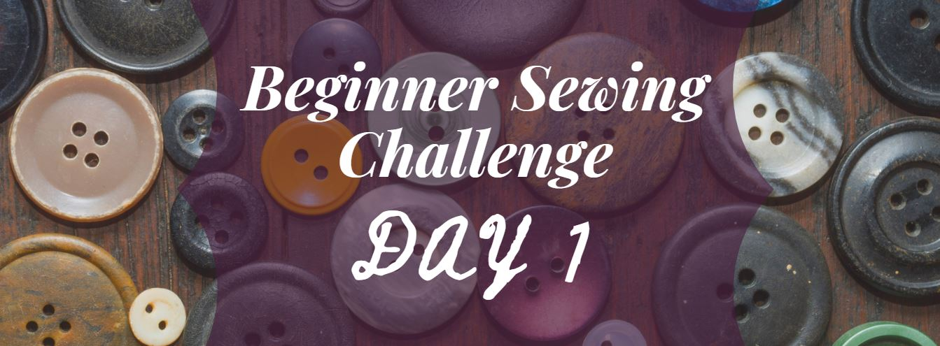 Beginner Sewing Challenge Day 1