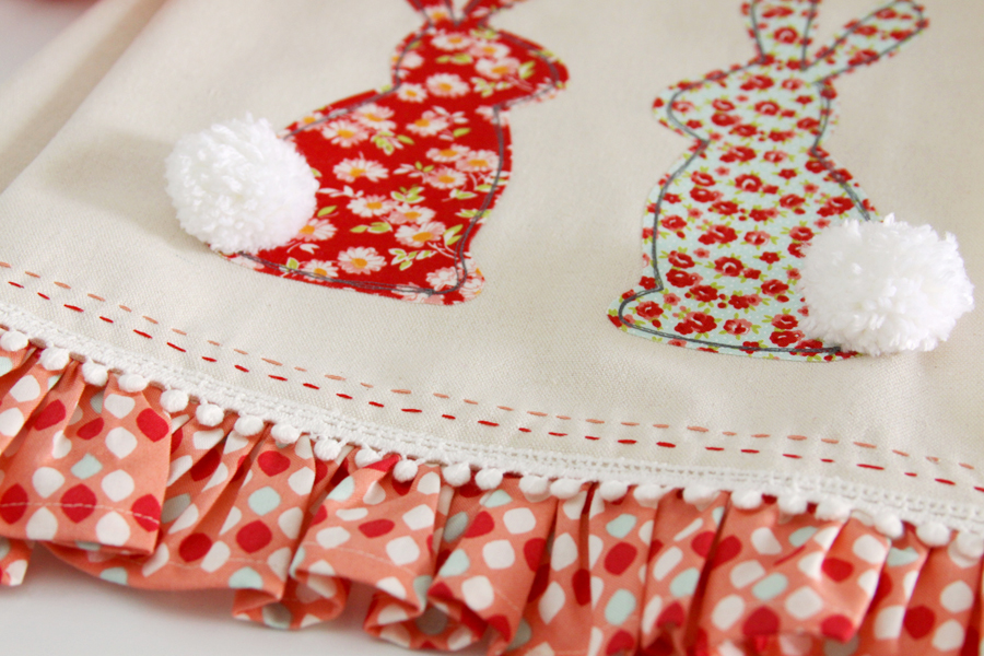 Fluffy Tail Bunny Dishtowel Sewing Project
