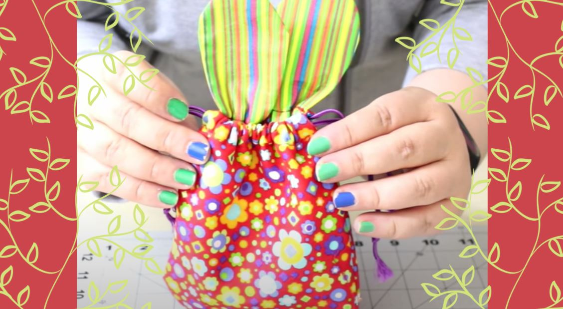 How to Sew a Drawstring Bunny Bag