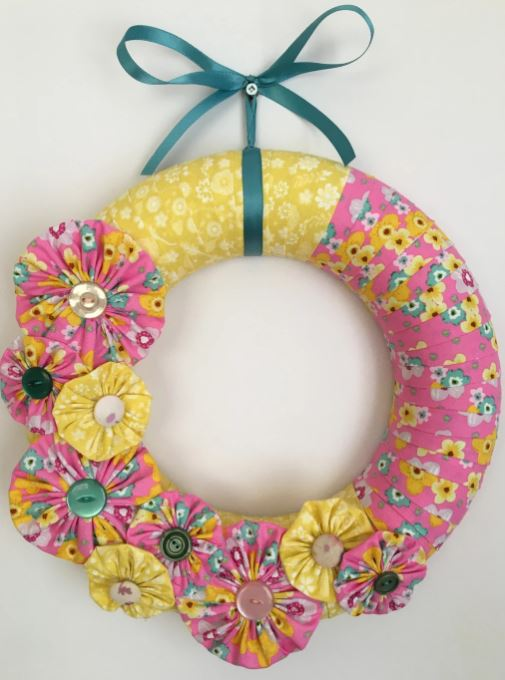 Quick and Easy Fabric Spring Wreath