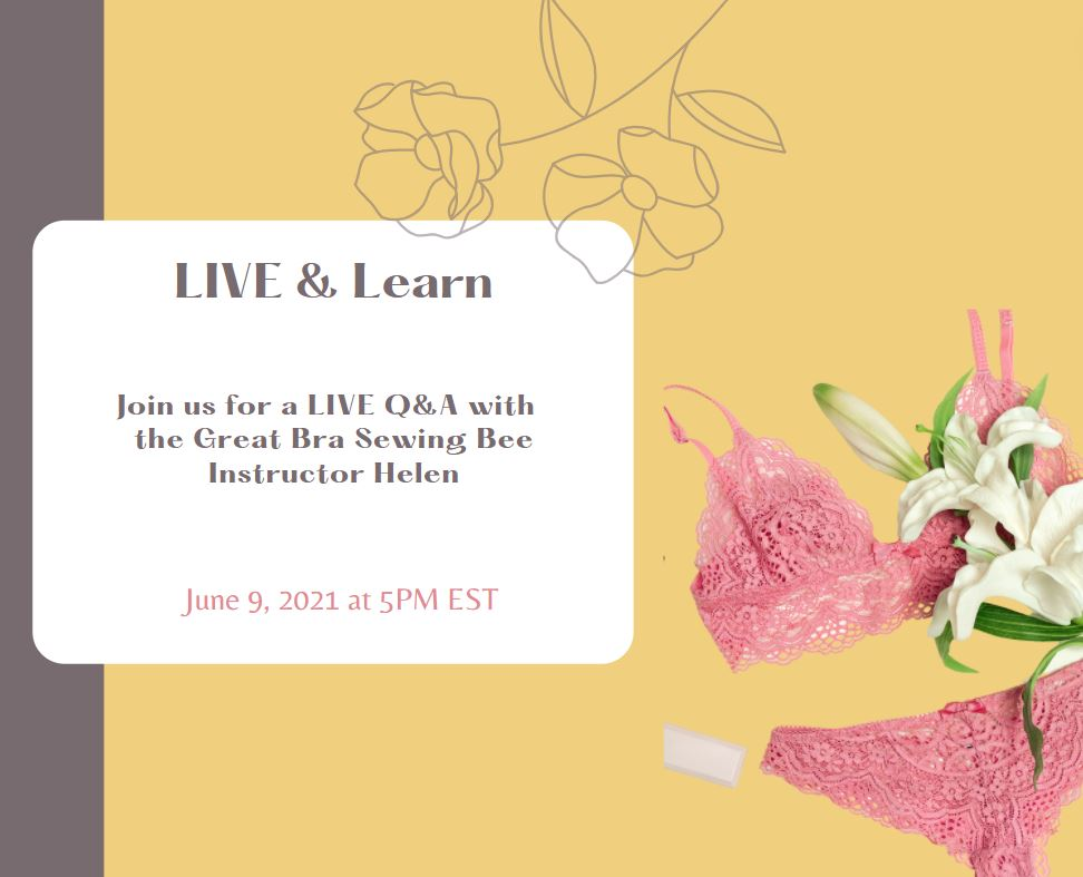 VIP Exclusive After Party: LIVE & Learn Bra Making Q&A