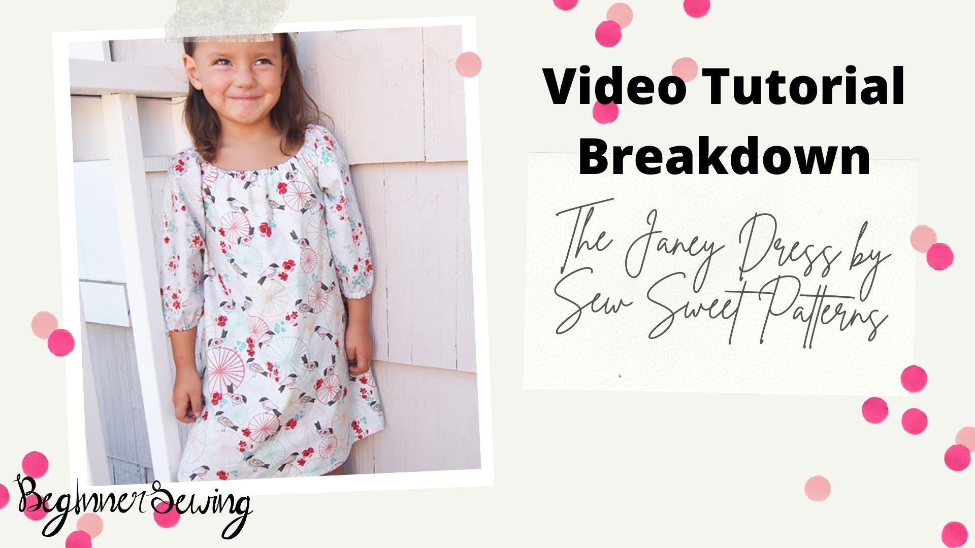 VIP Exclusive: Video Tutorial Breakdown – The Janey Dress